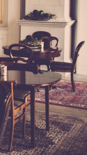 Oriental Rugs in a Dining Room